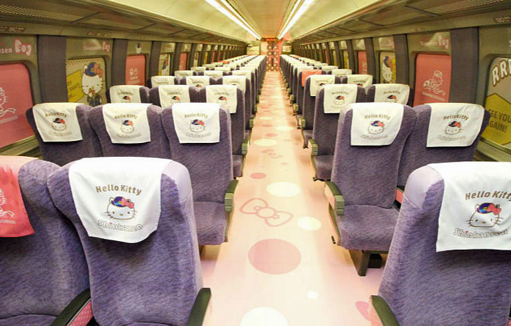 Japan's new Hello-Kitty bullet train