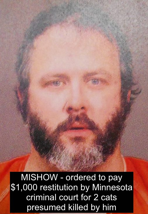 Mishow ordered to pay restitution for killing cats