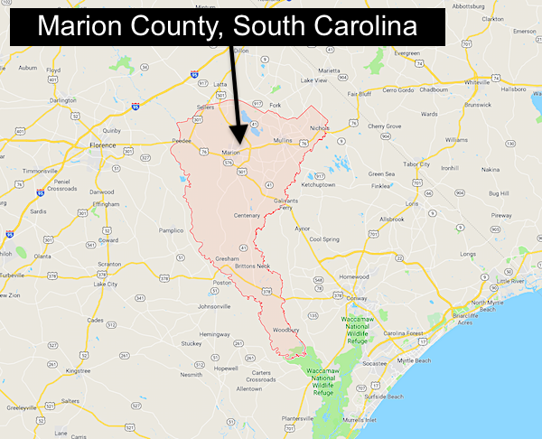 Marion County SC map