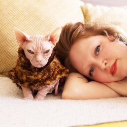 Sara Anderson photographed by BriAnne Wills cat is Loki