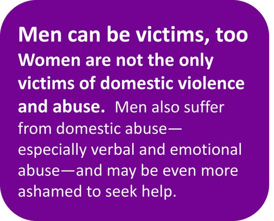 Men can be victims of abuse too