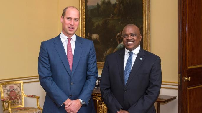 Prince William and President Masisi