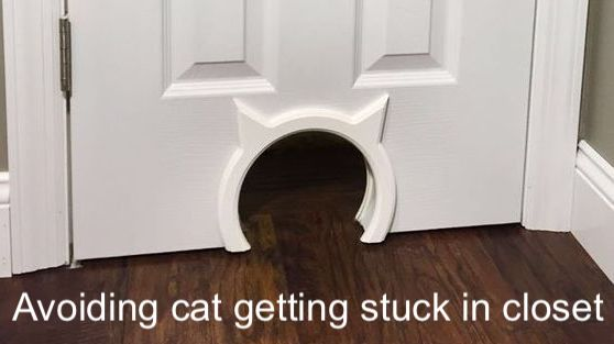Solution for cats getting stuck in closet