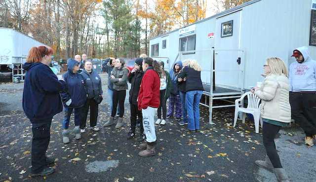 Hi Tor staff gather at the shelter