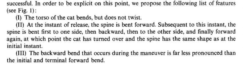 Scientifically describing the falling cat phenomenon