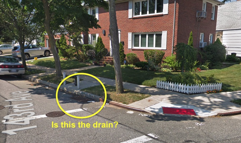 Storm drain from which a kitten was rescued