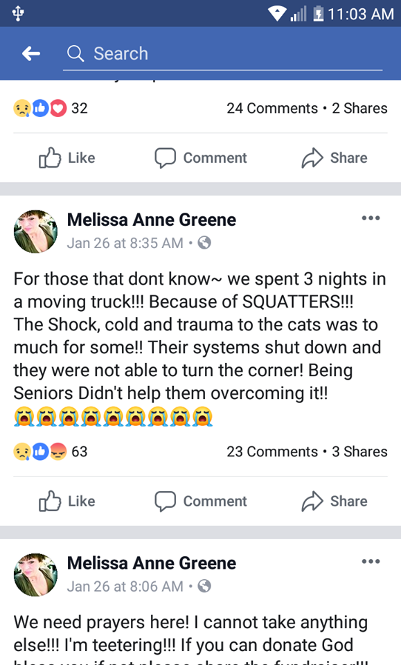 FB screenshot from Melissa