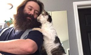 Cat shows signs of affection