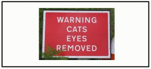 Warning: Cat's Eyes Removed