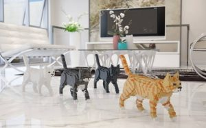 Life-sized cat LEGOS: Perfect pastime or just plain creepy?