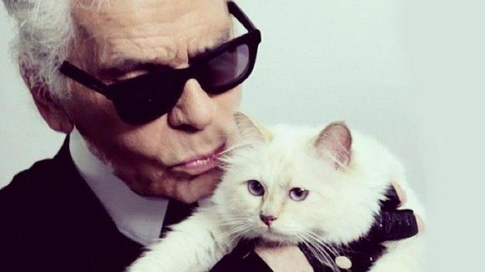 Lagerfeld and his beloved Choupette
