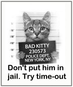 Try time-out for cats who are misbehaving