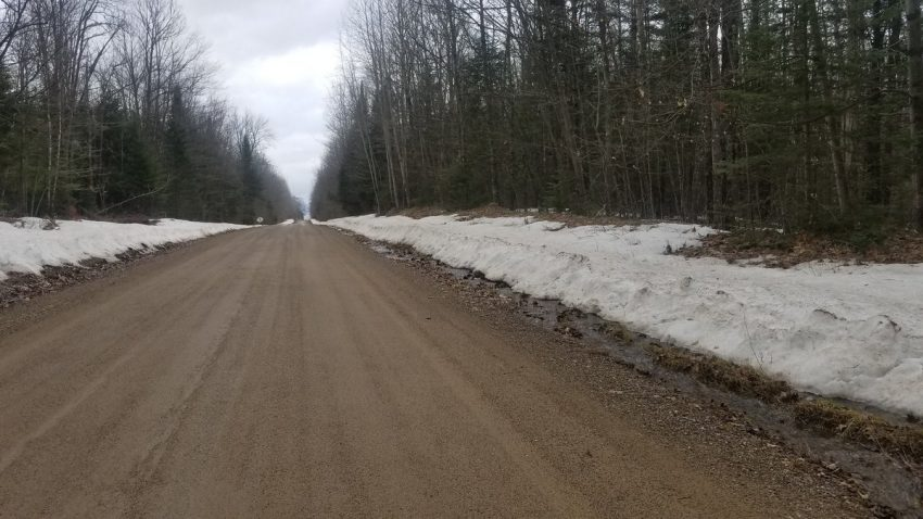 The road where Larry was rescued in WI