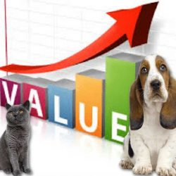 The relative financial value of domestic cats and dogs