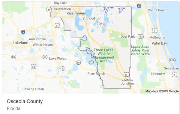 Osceola County map
