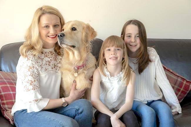 Adele Dickson and daughters plus Millie