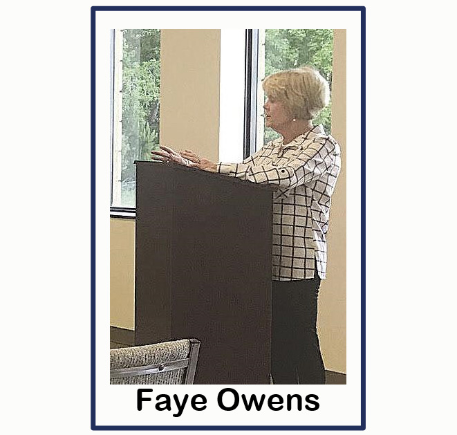 Faye Owens at council meeting