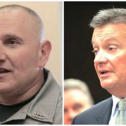 Former Hamilton shelter director Todd Bencivengo, left, and Hamilton Health Officer Jeffrey Plunkett. Photo: NJ.com