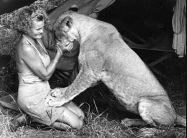 Joy Adamson with Elsa