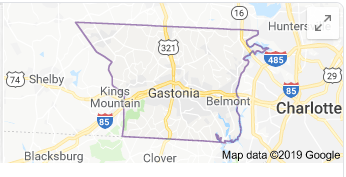 Gaston County map