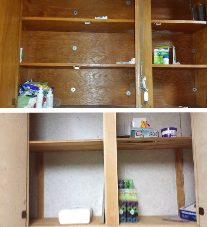 Burglary, shelves stripped of supplies. Photo: Pointe Coupee Animal Shelter