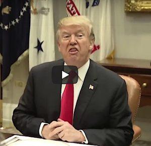 Trump saying thank you