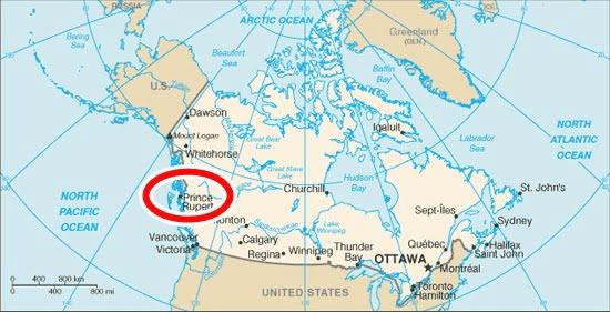 Prince Rupert map