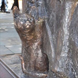 Cardinal Wolsey's cat as depicted in a statue in Ipswich, England, UK.
