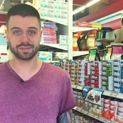 Maxim Tremblay works at Animal Expert in the Gay Village. He says there are both good and bad sides to the new regulations. (Sarah Leavitt/CBC)