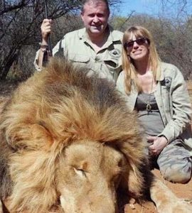Mr and Mrs Alboud trophy hunters