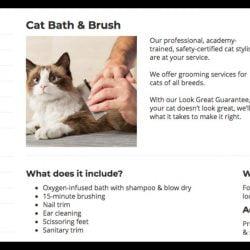 Petsmart cat bathing service