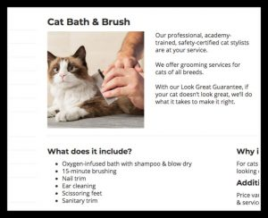 Petsmart cat bathing service