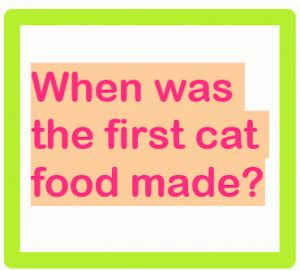 When was the first cat food made?