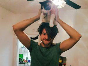 Cat lover Jordan Hagen