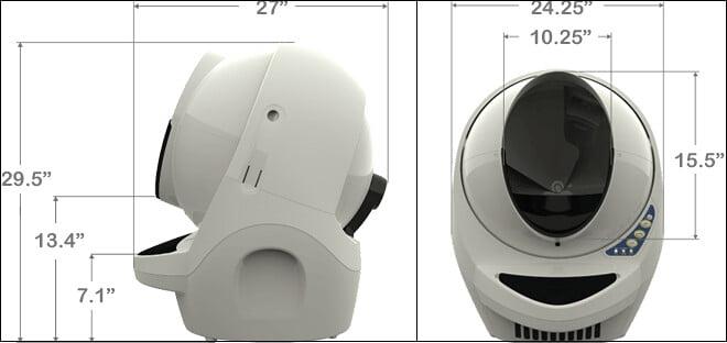 Litter Robot Dimensions