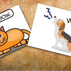 Cat meow and dog whine