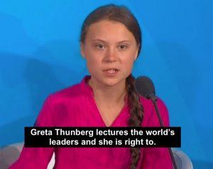 Greta Thunberg lectures world leaders