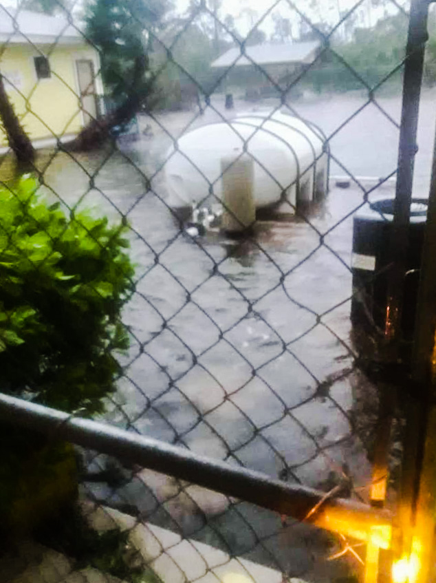 Humane Society of Grand Bahama under water