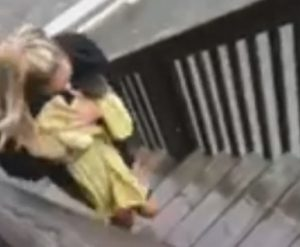 Amazing video of NC woman as she rescued a cat trapped on a fence during Hurricane Dorian