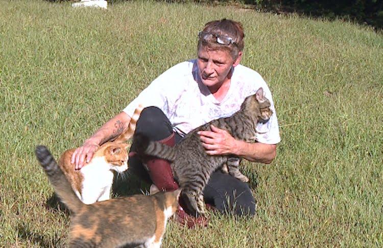 Lori, a cat rescuer