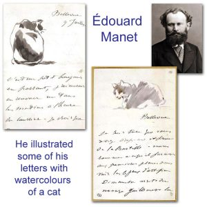 Édouard Manet's cat illustrations