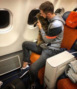 Mikhail and Viktor on the flight