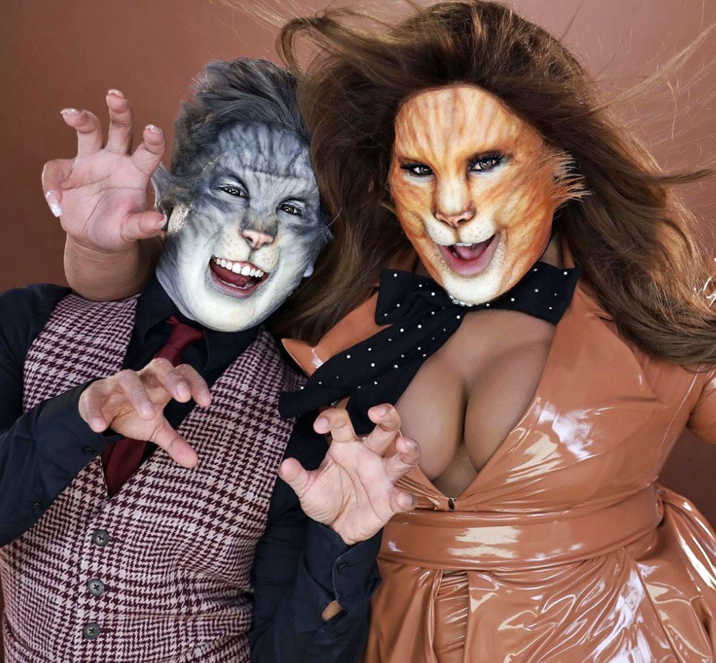 Patrick Starrr as a cat from Cats the movie