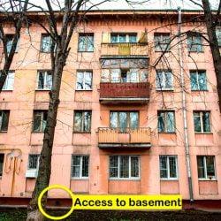 Russian apartment block