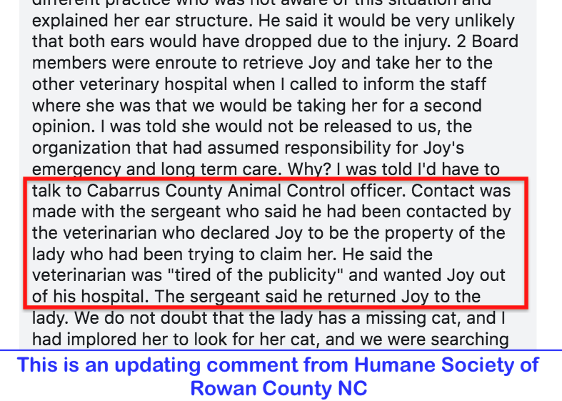 Update from Humane Soc.