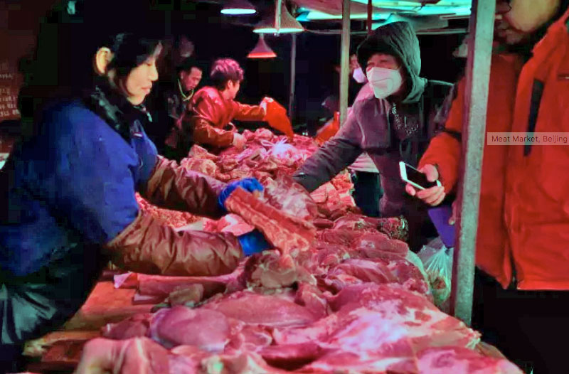 Beijing wildlife meat market
