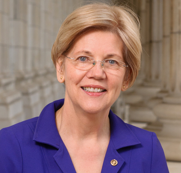 Elizabeth Warren. Photo (adjusted) from Wikipedia.