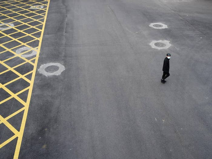 Wuhan, China: streets are empty