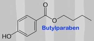 Chemical formula of butylparaben