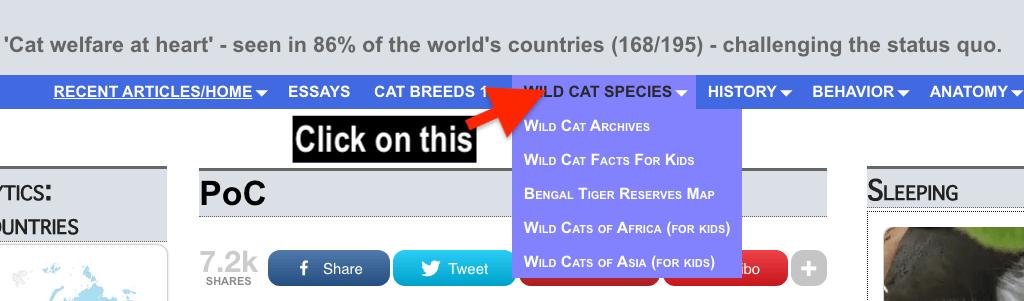 Click for wild cat species